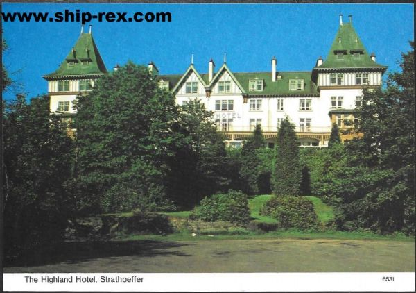 Strathpeffer, The Highland Hotel - postcard